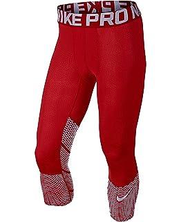 0b6987857af2f6 Nike Pro Hypercool Max Three-Quarter Mens Tights 747427-658 RED/SILVER (