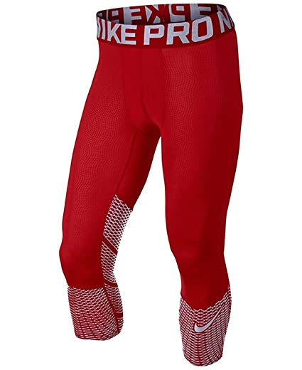 sale usa online sleek official supplier Nike Pro Hypercool Max Three-Quarter Mens Tights 747427-658 RED/SILVER (SZ  M)