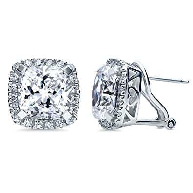 501cfa5db Image Unavailable. Image not available for. Color: BERRICLE Rhodium Plated  Sterling Silver Cushion Cut ...