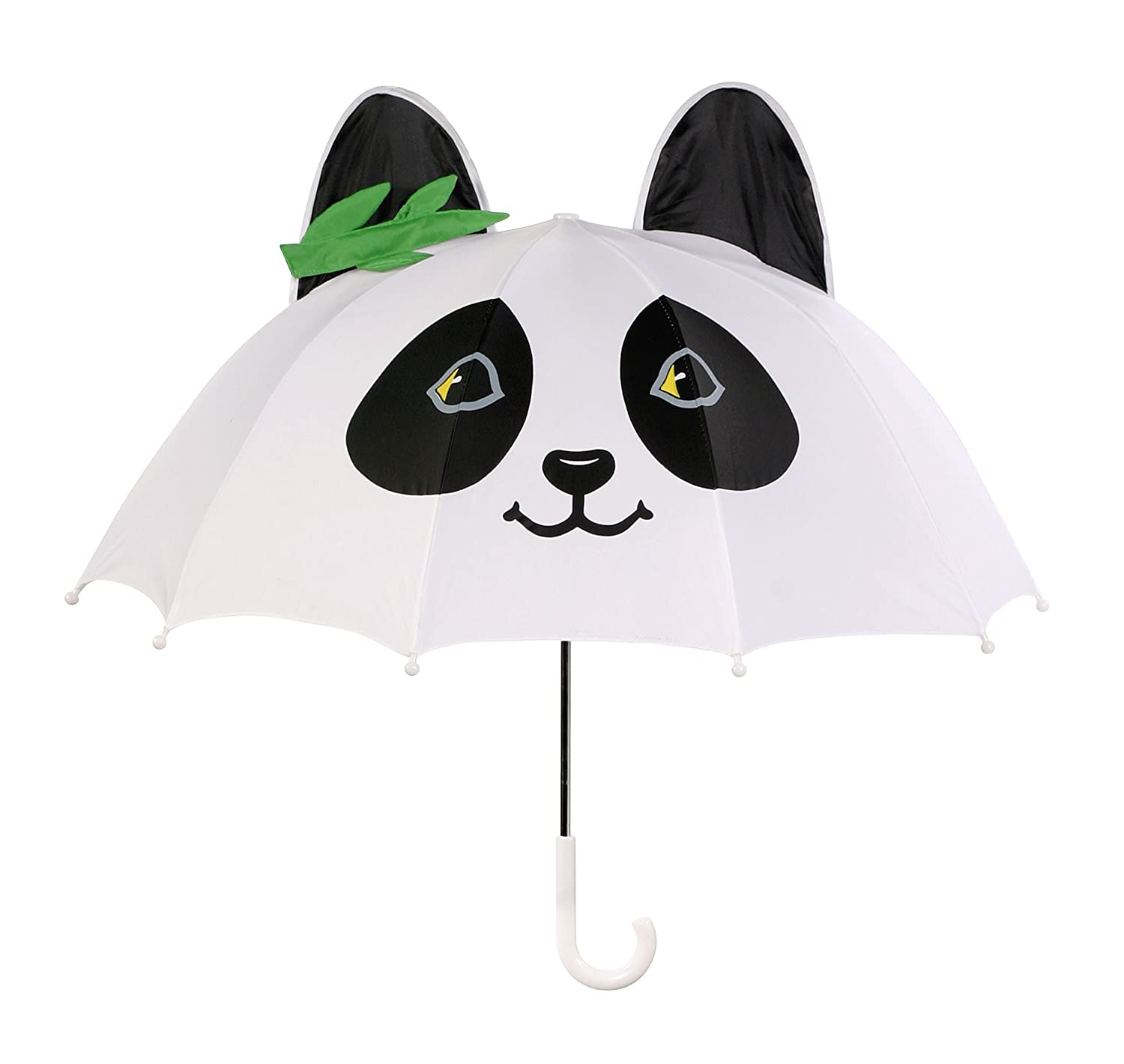 Kidorable White Panda Umbrella With Fun Pop-Out Ears and Bamboo