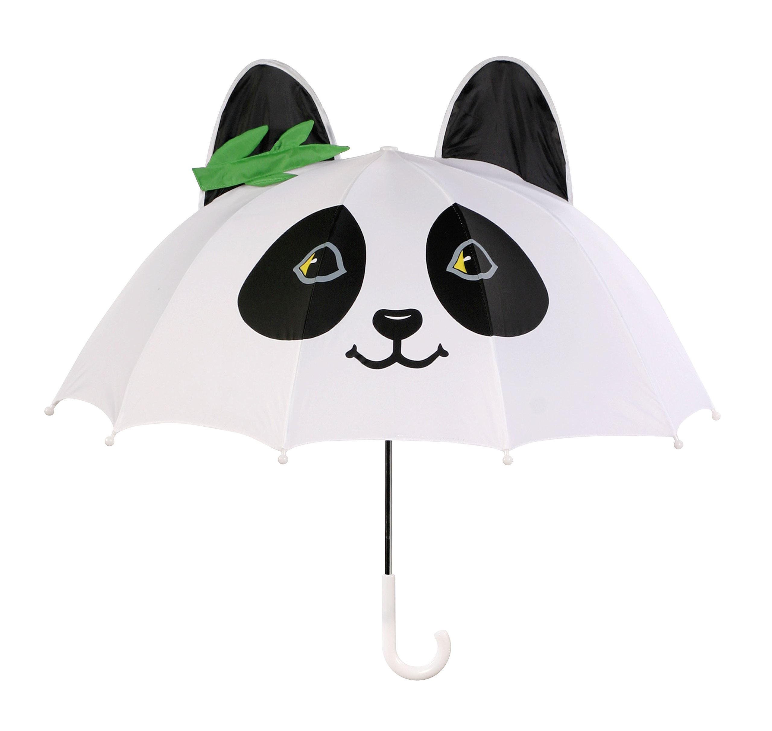 Kidorable White Panda Umbrella With Fun Pop-Out Ears and Bamboo One Size