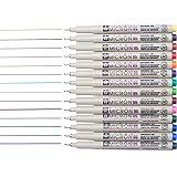 Sakura 14 Pcs Pigma Micron Fine Line Pen Set Assorted Colors 05# 0.45mm Ink Drawing Pens Set with Pen Case