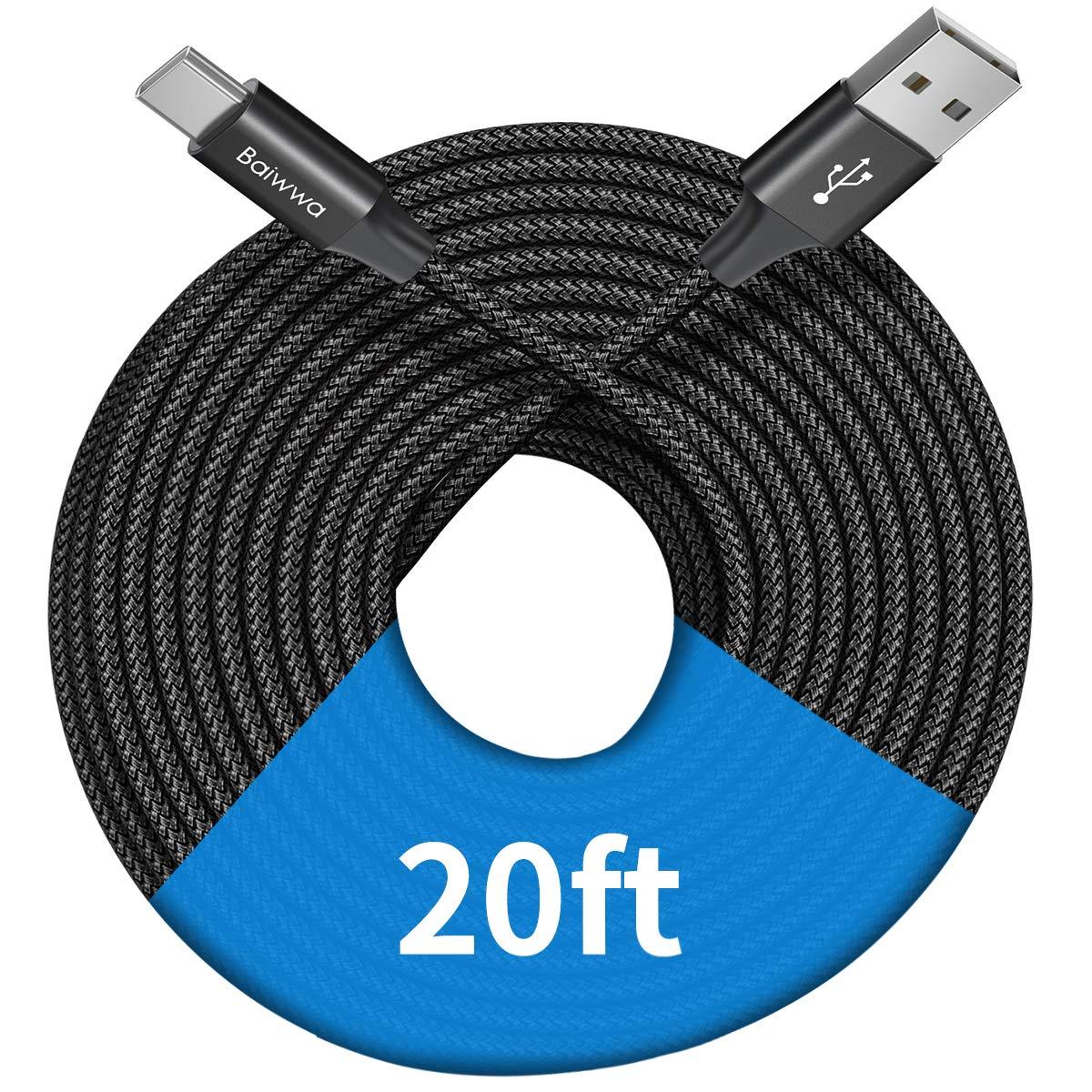 1 Cable Trenzado USB-A a USB-C 6mt Baiwwa -G8NX