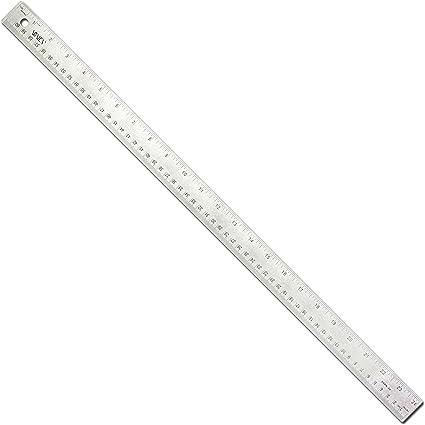 VINCA 24 inch Stainless Steel Ruler