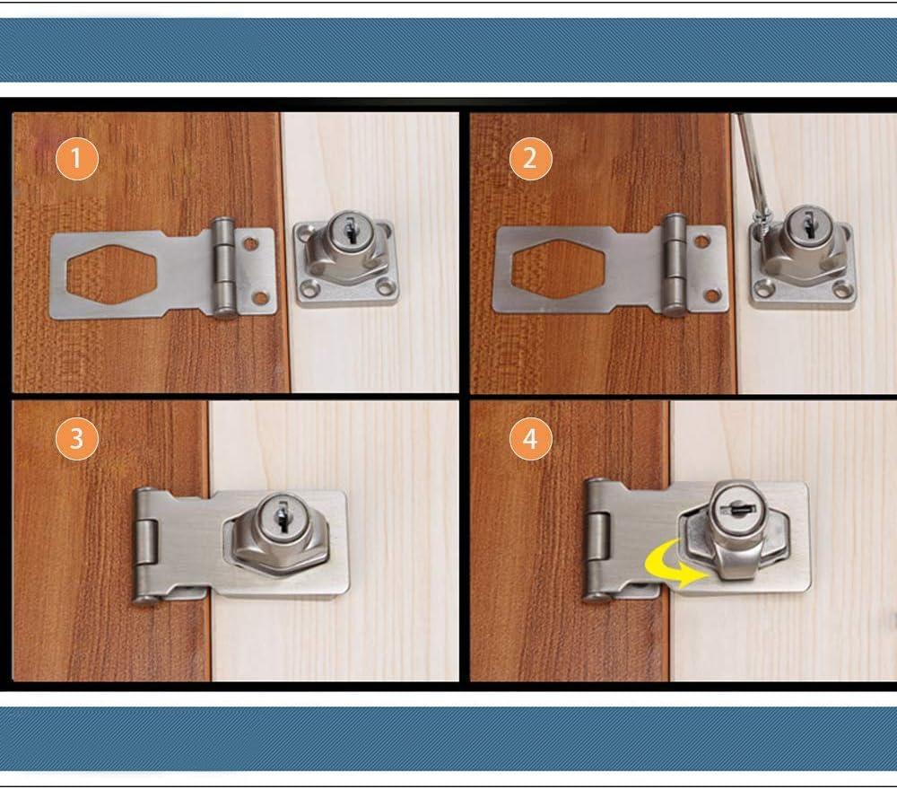 Cerradura de puerta con llave, 60 mm, cromada, para puertas de cobertizo, muebles, cajas: Amazon.es: Bricolaje y herramientas