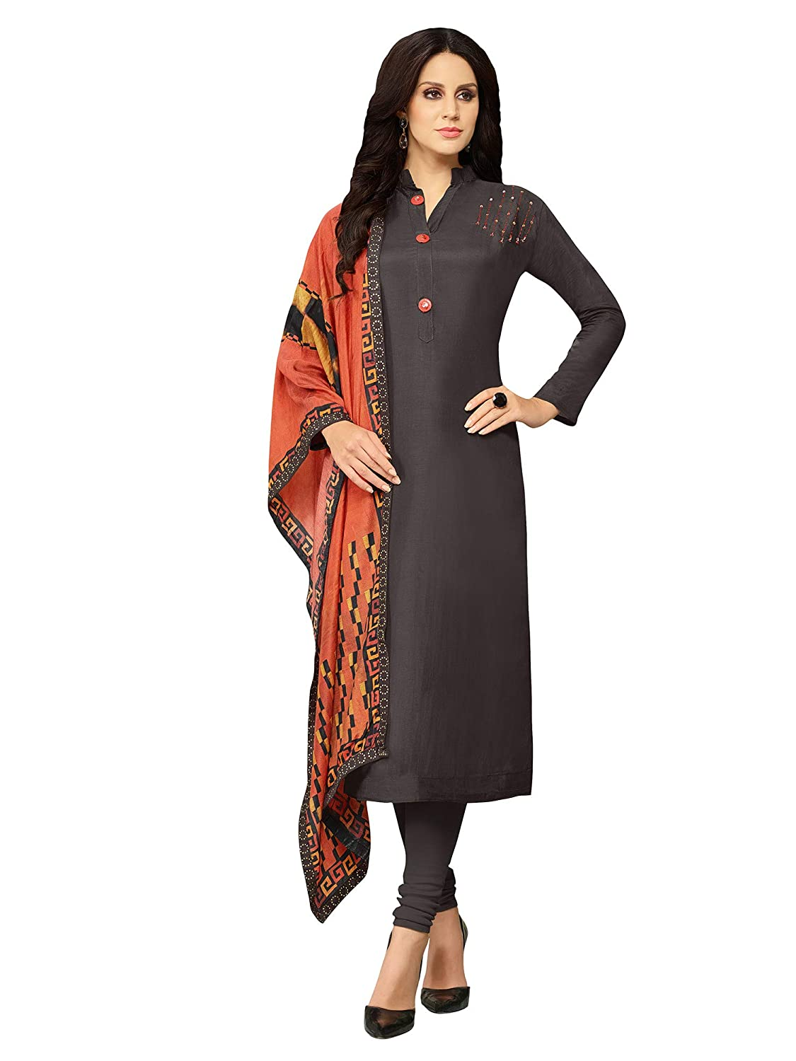 3362134d7f Applecreation Women'S Cotton Silk Unstitched Salwar Suit Material  (Black_Free Size): Amazon.in: Clothing & Accessories