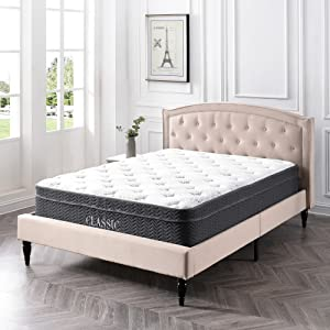 Classic Brands Celadon Hybrid Latex and Innerspring 12-Inch Mattress, Queen