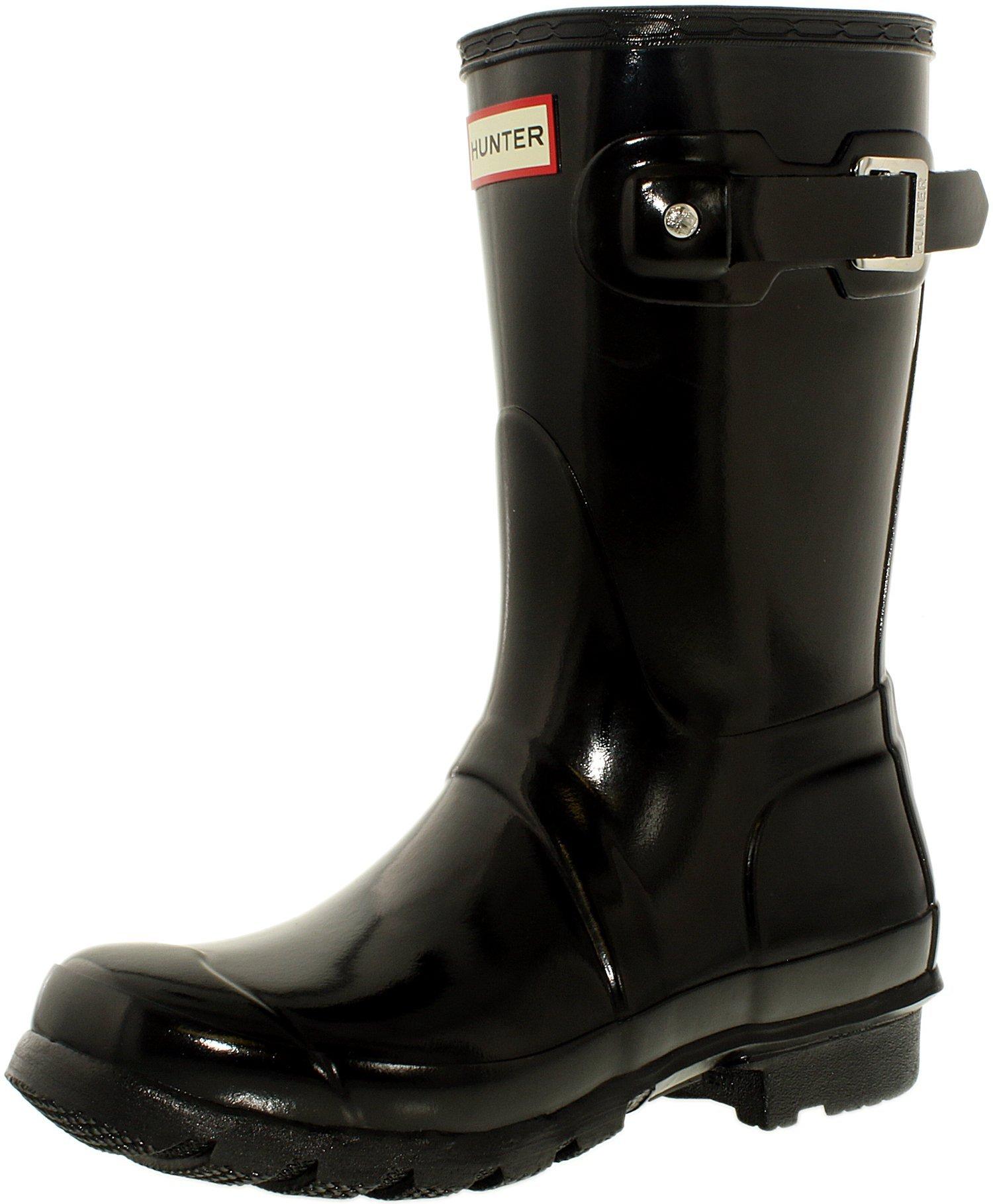 Hunter Womens Original Short Black Rain Boot - 10 B(M) US