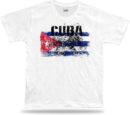Cuba Camiseta Bandera tee Recuerdo de Viaje tee Regalo Cuba Flag ...