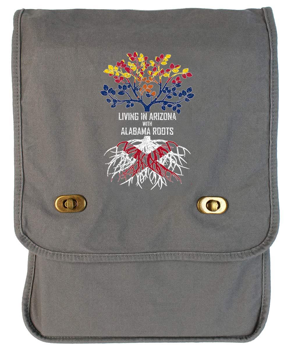 Tenacitee Living In Arizona with Alabama Roots Grey Brushed Canvas Messenger Bag