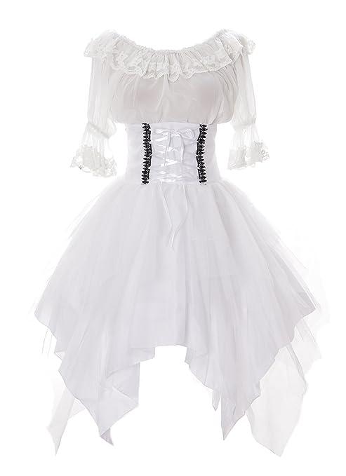 Kawaii-Story JL de 640 – 3 Color Blanco agarre Rock & Blusa tul vestido
