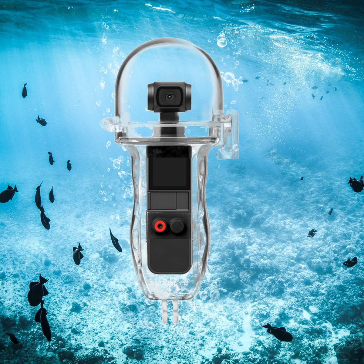 O'woda Upgraded Diving Waterproof Case Protective Housing Cover with Control Button for DJI OSMO Pocket Accessories