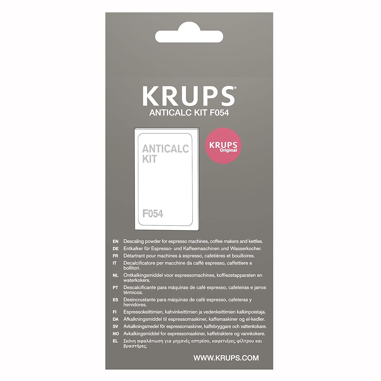 KRUPS F054 Descaling Powder for Kettles Coffee and Espresso Makers Fully Auto Machines EA8442 And EA8250