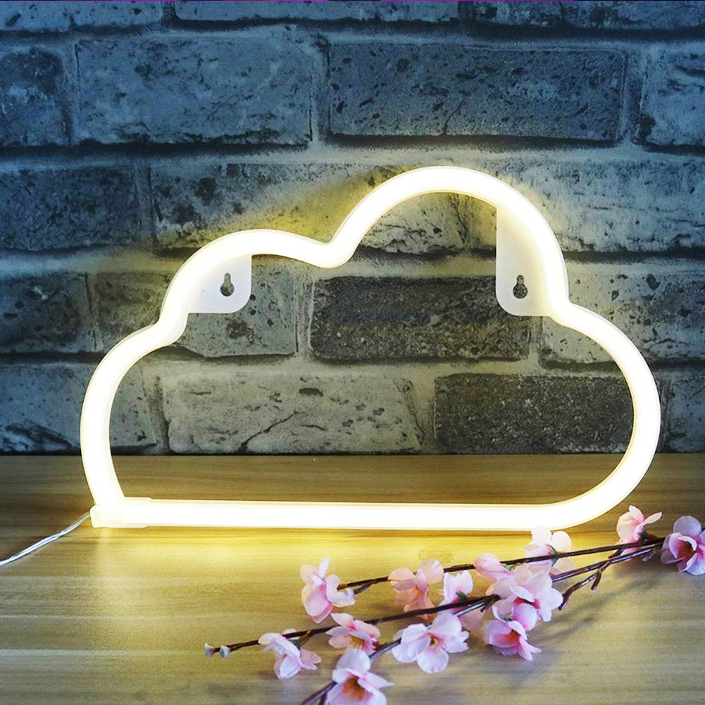 XIYUNTE Pink Cupids Bow Neon Light Led Neon Lights Wall Light Battery or USB Operated Pink Neon Sign Cupids Bow Light up for Kids Room,Party,Bar,Valentines Day,Wedding,Christmas