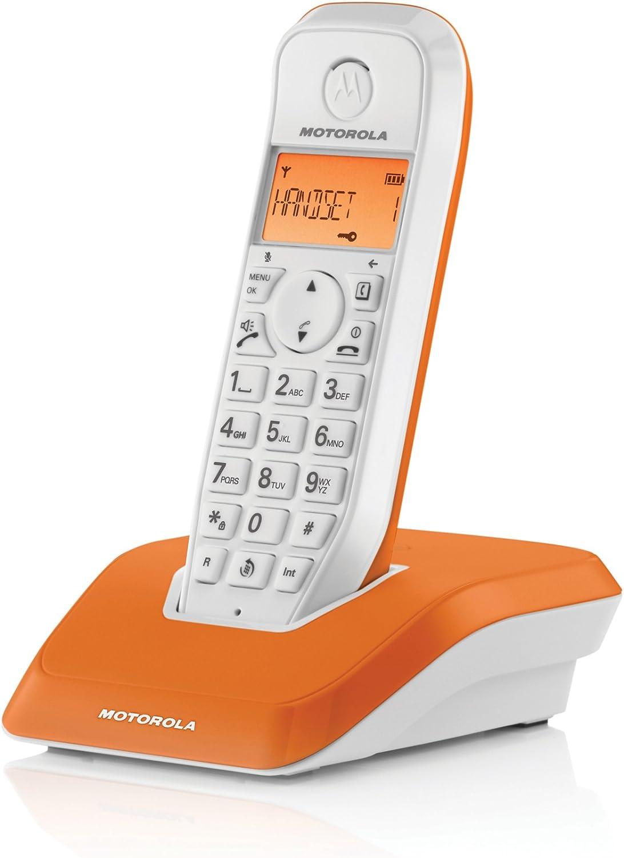 Motorola Startac S1201 - Teléfono inalámbrico DECT (manos libres, modo ECO, iluminación de pantalla ajustable al color del dispositivo): Amazon.es: Electrónica