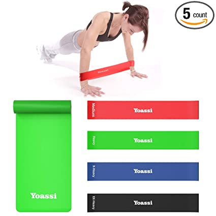 Yoga Resistance Band Exercise Loop Cross Fit Strength Weight Training Fitness Training Workout Elastic Band Work Out 30 Sports & Entertainment Resistance Bands