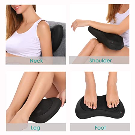 Guisee Back Massager Shiatsu Neck Foot Massager Electric Shoulder Massager Cushion With Heat 4 Deep...