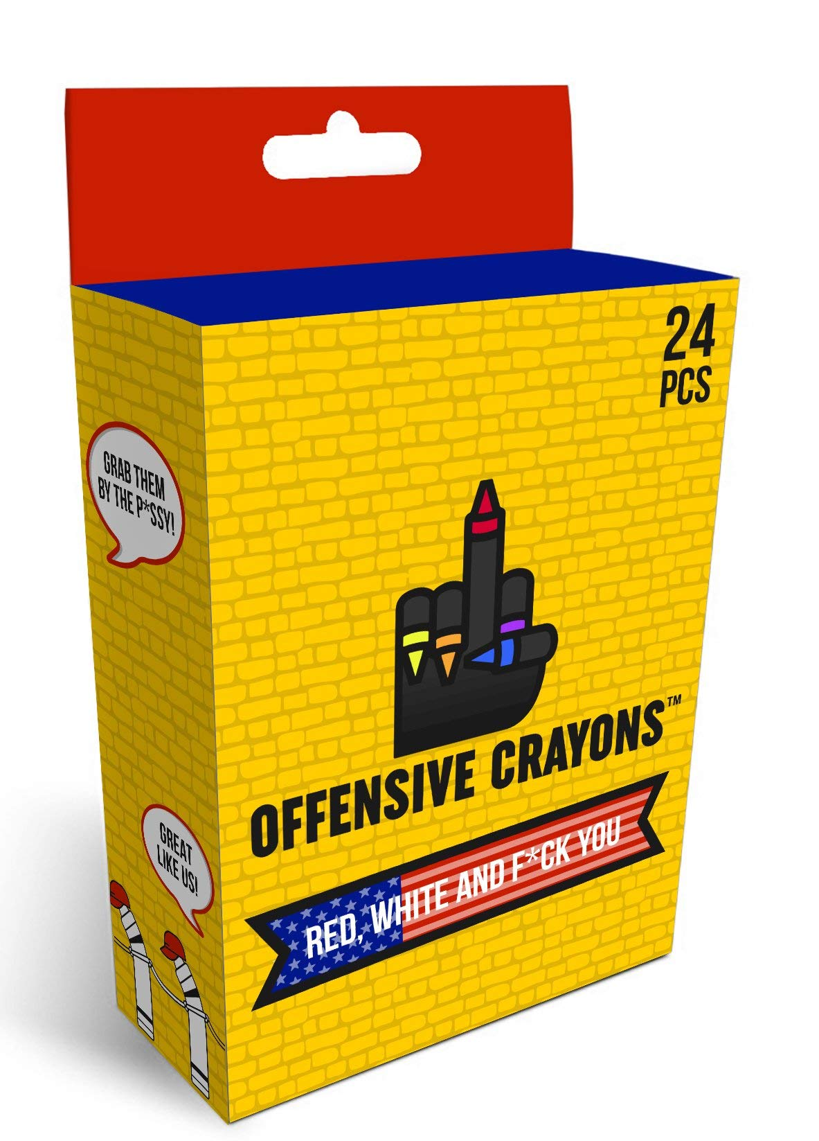 ''Red, White, and FCK You'' Offensive Crayons
