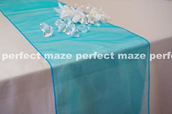 Perfectmaze 12u0026quot; X 108u0026quot; (Inch) Organza Table Runner For Wedding,  Party