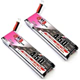 GAONEN 450mAh 1S HV 3.8V LiPo Battery 80C JST-PH 2.0 PowerWhoop mCPX Connector for EMAX Tinyhawk EZ-Pilot Brushless…
