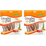 Good'n'Fun Triple Flavored Rawhide Kabobs Dog Treats, 12 oz - 2 Pack