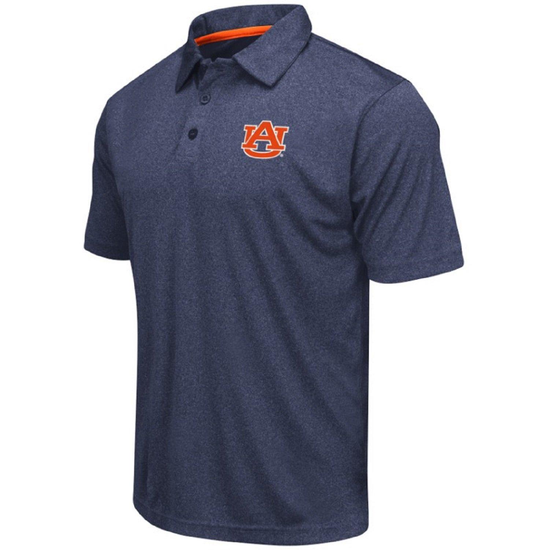 Colosseum Men's NCAA Heathered Trend-Setter Golf/Polo Shirt-Auburn Tigers-Heathered Blue-Large