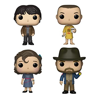 Funko Television: POP! Stranger Things Collectors Set - Mike at Dance, Eleven in Burger, Eleven at Dance, Hopper with Flashlight: Toys & Games