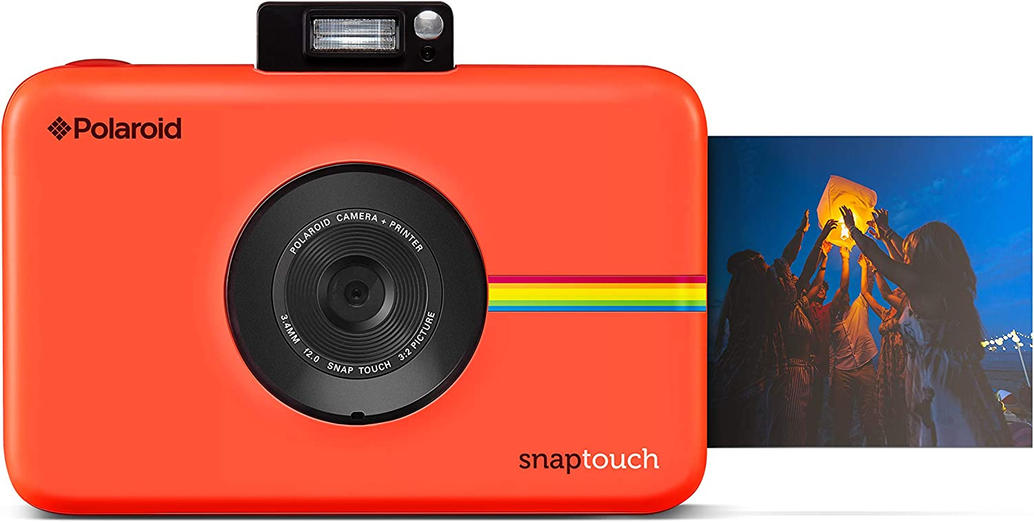 Polaroid Snap Touch Portable Instant Print Digital Camera with LCD Touchscreen Display (Red)