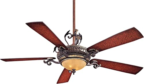 Minka-Aire F705-STW Downrod Mount, 5 Wood Finish Blades Ceiling fan with 93 watts light, Wood