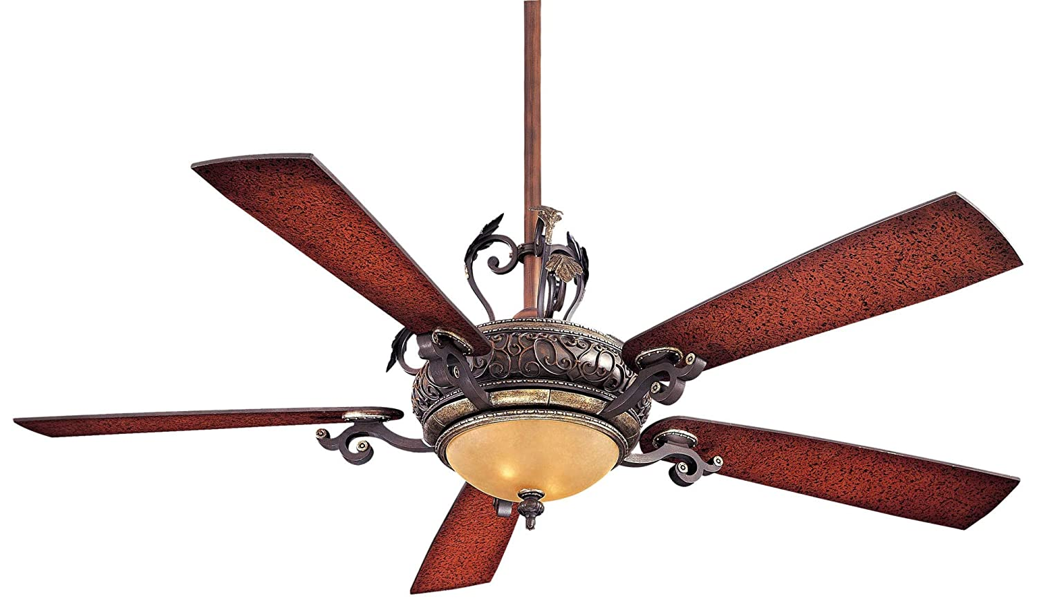 Casablanca Indoor Ceiling Fan with LED Light and remote control – Wisp 52 inch, Nobel Bronze, 59285