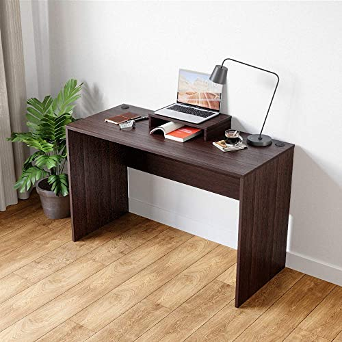 Bestier Computer Desk 47 inches Home Computer Table with BIFMA Certification Sturdy Office Meeting Training Desk Wood Writing Desk Gaming Table