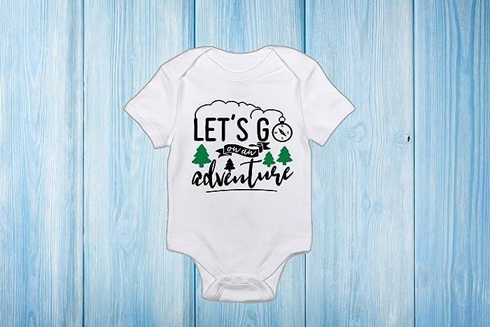 b4fd95bc974f Amazon.com  Baby Unisex Let s go on an Adventure Onesie  Handmade