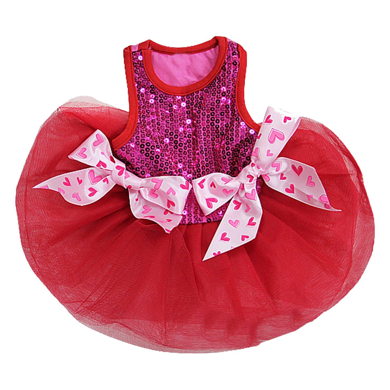 L Kirei Sui Sparkle Pets Tutu Dress Large Hot Pink Red
