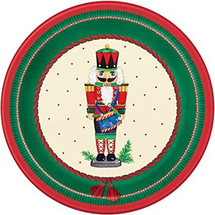Nutcracker Christmas Dessert Plates 8ct  sc 1 st  Amazon.com & Amazon.com: Nutcracker Christmas Dessert Plates 8ct: Kitchen u0026 Dining
