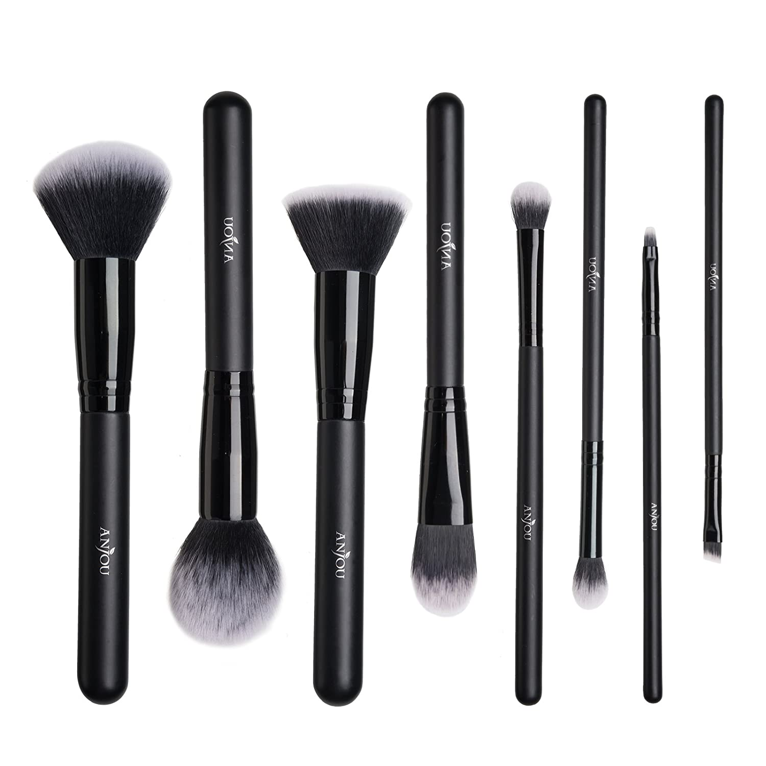 Makeup Brushes Set Anjou 8 Pieces Synthetic Makeup Brushes For All Look Foundation Blush Face Concealer Eyeliner Shadow Cosmetics Brush Set Waterproof Cosmetic Bag Included