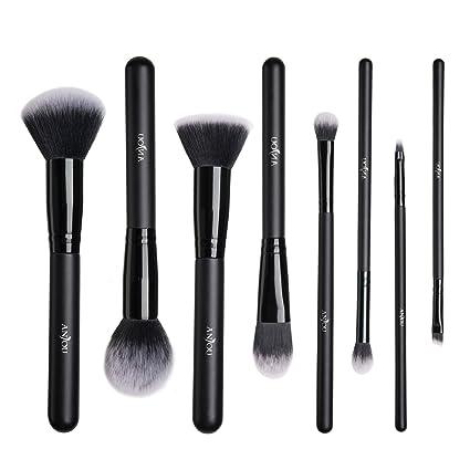 Pinceaux Maquillage Anjou Kit de 8pcs, Poils Synthétiques Vegan, 100% Sans  Cruauté,