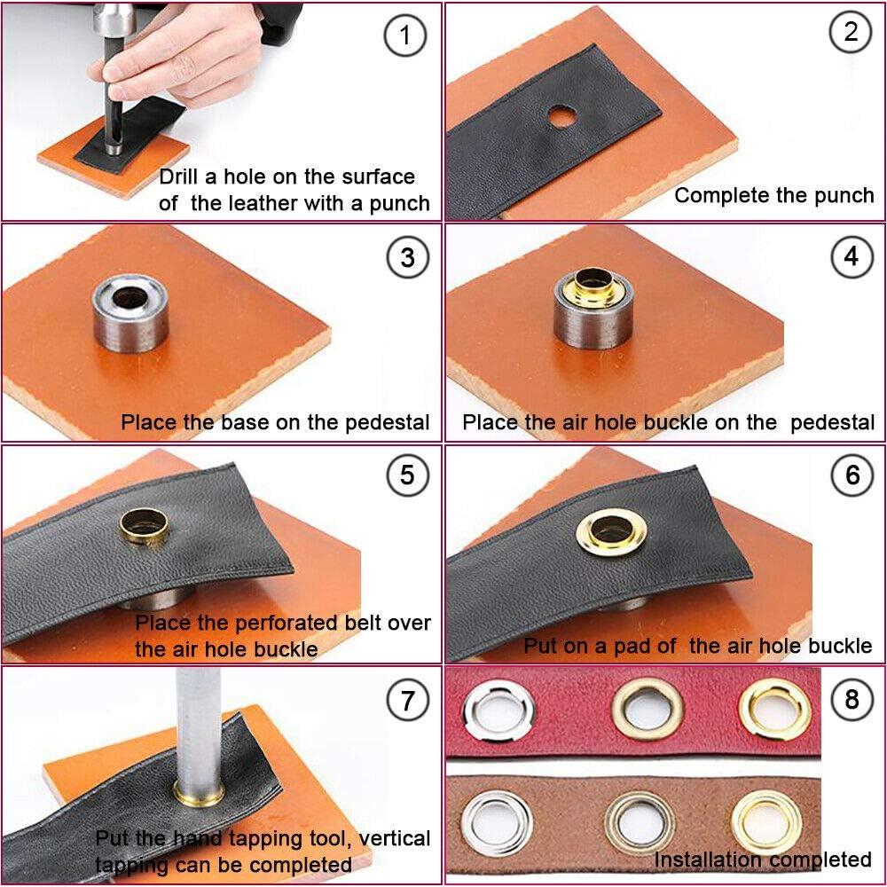 1 juego de arandelas de lat/ón tela cortinas y bolsas 100 ojales con herramienta de perforaci/ón y herramienta de cierre para lona SENRISE Juego de ojales etc.