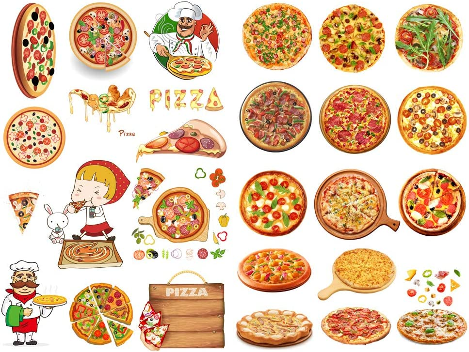 Seasonstorm Pizza Delicious Food Aesthetic Diary Travel Journal Paper Stickers Scrapbooking Stationery School Office Art Supplies