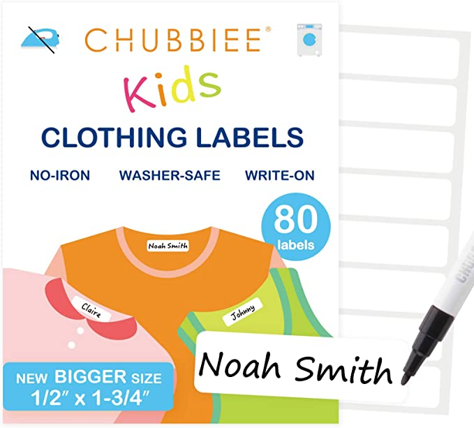 1 Sheet of 60 Blank Labels All Purpose School Ez Kids Clothing Labels Self-Stick No-Iron Write-On Toys Great for Children /& Adults Nursing Care Washer /& Dryer Safe Camp Organizing