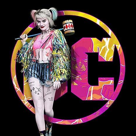 Nanony Disfraz de Aves de Presa Harley Quinn Cosplay Chaqueta de ...