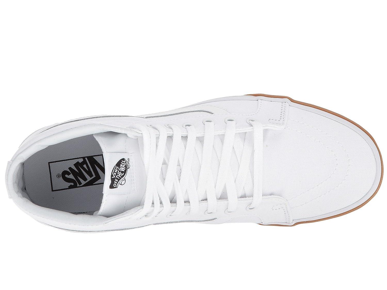 Vans Men's Sk8-Hi(Tm) Core Classics B076CVYV36 8 M US Women / 6.5 M US Men|(Gum Bumper) True White / True White