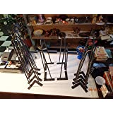 """12"""", 16"""", 18"""", 22"""", 24"""" HAIRPIN LEGS 3/8"""" ROUND WITH MOUNTING PLATES BARE STEEL (12, BARE STEEL)"""