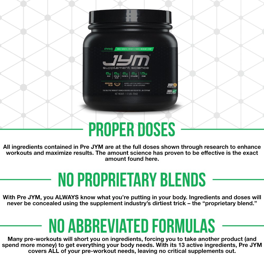 Amazon.com: JYM Supplement Science, PRE JYM, Pre-Workout with ...