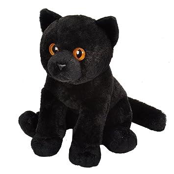 Amazon Com Wild Republic Black Cat Plush Stuffed Animal Plush Toy