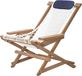 product image for Nags Head Hammocks Cumaru Deluxe Folding Rocker, White Polyester