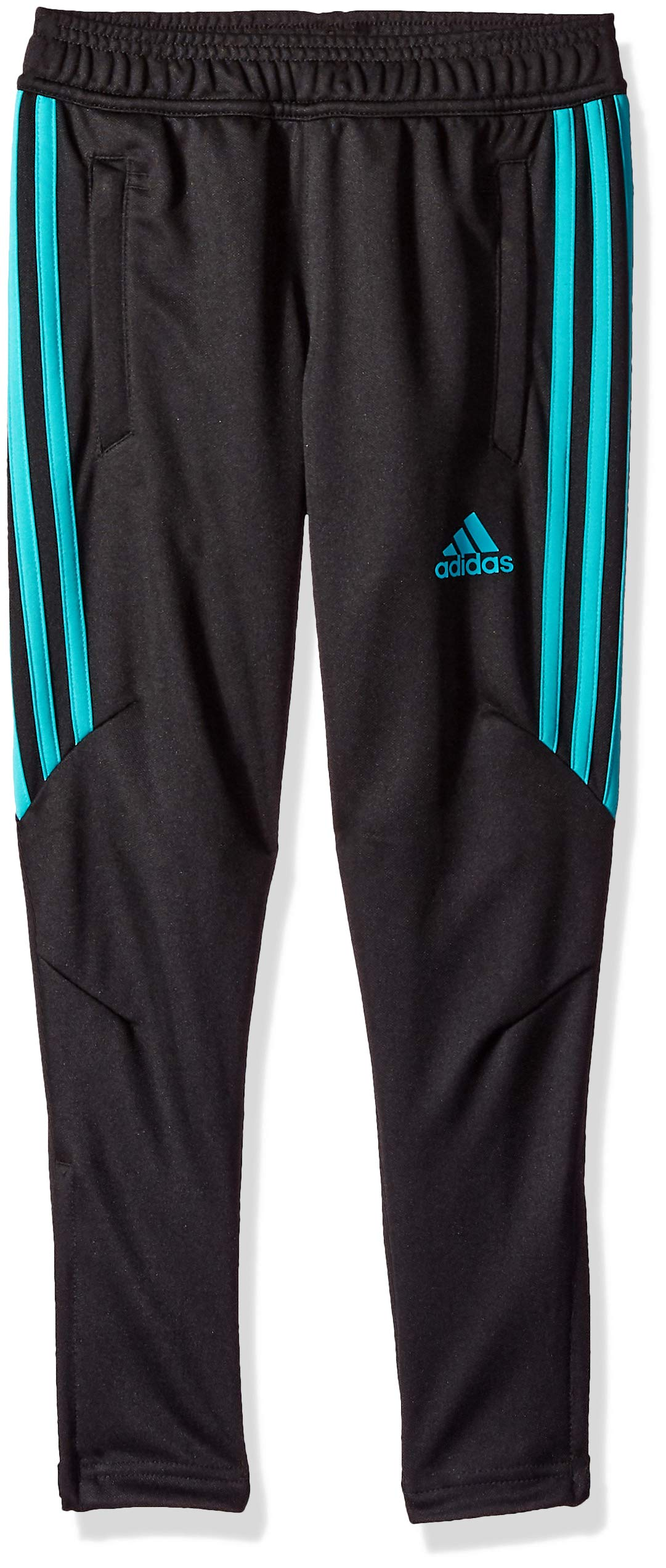 adidas Youth Soccer Tiro 17 Training Pant, Black/Hi-Res Aqua, Large