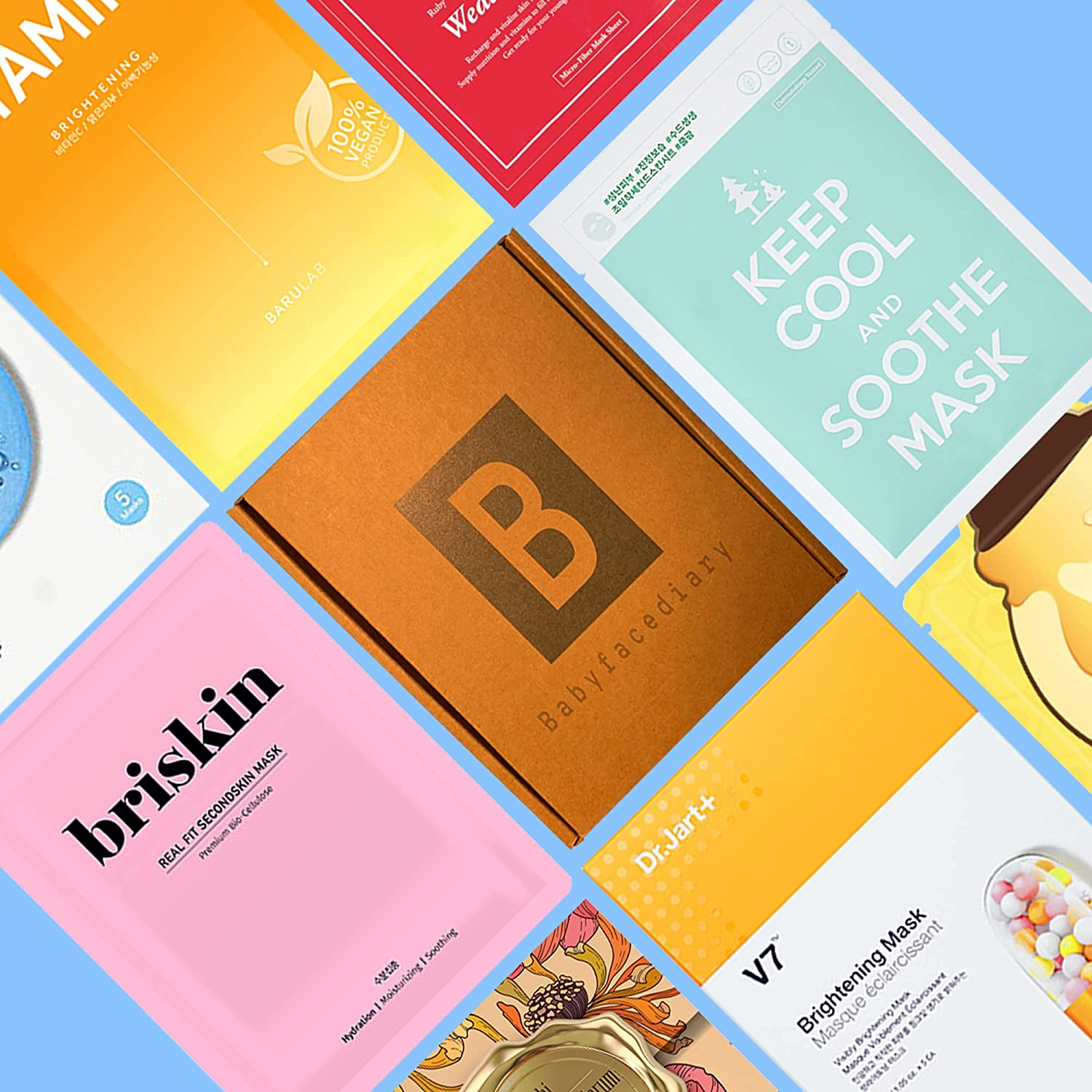 BabyFaceDiary - Authentic Korean Sheet Mask Monthly Subscription Box: Mystery Wow
