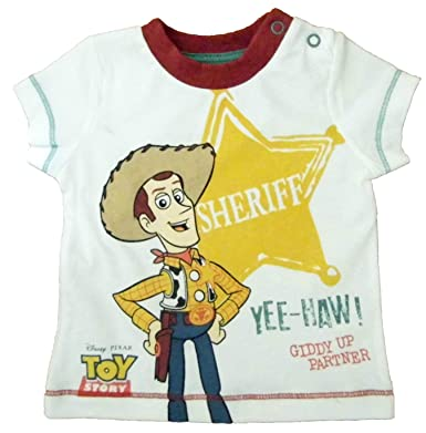 Baby Boys Woody Toy Story T-shirt Newborn up to 18-24 Months 100/% Cotton