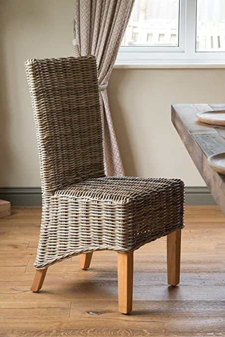 Kubu / Kooboo Rattan Wicker Dining Chair   Light Legs