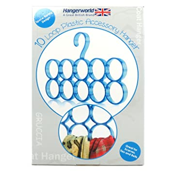 Amazon.com: Hangerworld 10 Loop elegante bufanda percha de ...
